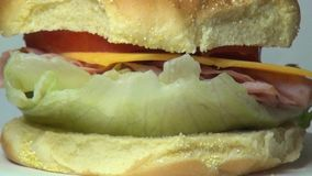 Ham and Cheese Sandwich, Lunch, Junk Food, Fast Food stock video