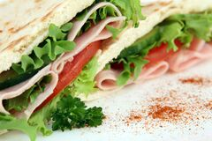 Ham And Cheese Sandwich, Sandwich, Fast Food, Finger Food Stock Photo