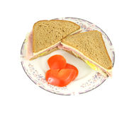 Ham Cheese Sandwich Tomato Royalty Free Stock Photo