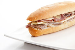 Ham cheese sandwich Royalty Free Stock Photos