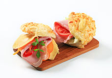 Ham and cheese sandwiches Stock Photography