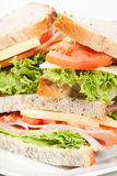 Ham and cheese sandwiches Royalty Free Stock Photo