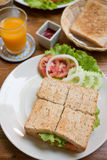 Ham Cheese smörgås arkivbilder