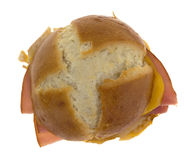 Ham And Cheese Small Sandwich Top View Royalty Free Stock Image