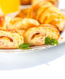 Ham and cheese stuffed crescent roll Royalty Free Stock Photography