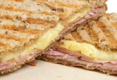 Ham & Cheese Toasted Sandwich Stock Photography