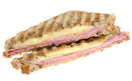 Ham & Cheese Toasted Sandwich Isolated Royalty Free Stock Photo