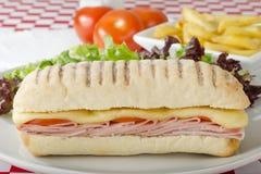 Ham & Cheese Toastie Royalty Free Stock Photo