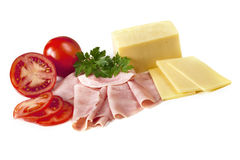 Ham Cheese and Tomato Stock Images