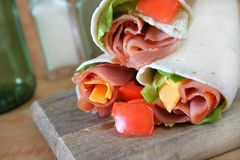 Ham and Cheese Wrap Royalty Free Stock Photography