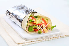 Ham and cheese wrap Royalty Free Stock Images