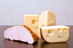 Ham and cheeses Royalty Free Stock Photos