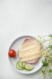Ham and Chesse Toast Stock Photo