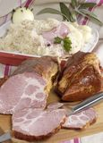 Ham and Choucroute Stock Photo