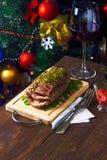 Ham for Christmas dinner Stock Photos