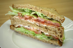 Ham club sandwich Stock Photo