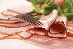 Ham composition Royalty Free Stock Image