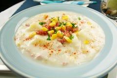 Ham Corn And Potato Chowder Royalty Free Stock Photography