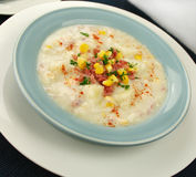 Ham Corn And Potato Chowder Stock Photo