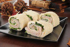 Ham and cream cheese pinwheels Royalty Free Stock Image