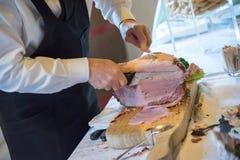 Ham Cut manuale Fotografia Stock
