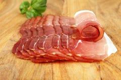 Ham on cutting board. Food - Ham on cutting board Royalty Free Stock Photos
