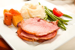 Ham Dinner Stock Photo