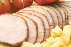 Ham dinner Stock Image