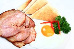 Ham and egg Royalty Free Stock Photo