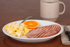 Ham and Egg Breakfast Royalty Free Stock Photography
