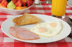 Ham and egg breakfast Stock Photography
