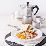 Ham and egg breakfast Royalty Free Stock Image