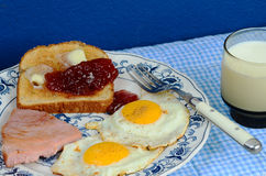 Ham and Egg Breakfast Stock Images