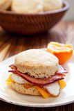 Ham, egg, and cheese biscuit royalty free stock images