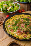 Ham and egg omelette Stock Photo