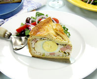 Ham And Egg Pie Royalty Free Stock Photos