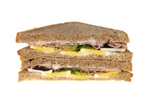 Ham and Egg Sandwich Royalty Free Stock Photo