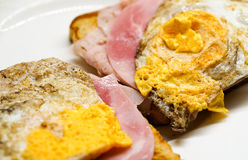 Ham and egg sandwich Royalty Free Stock Photography