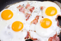 Ham and eggs Royalty Free Stock Photography