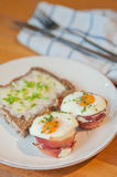 Ham and Eggs Cupcakes Stock Photography