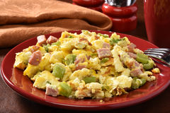 Ham and eggs Stock Images