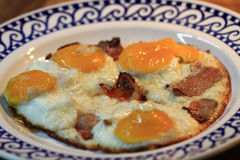 Ham and eggs fried Stock Photography