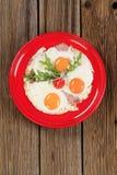 Ham and eggs Stock Photos