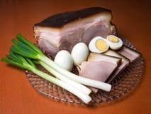 Ham en eieren royalty-vrije stock afbeelding