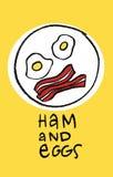 Ham en Eieren Stock Foto
