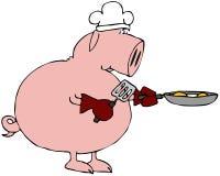Ham en Eieren Royalty-vrije Stock Foto's