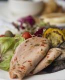 Ham en groenten Royalty-vrije Stock Afbeeldingen