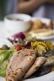 Ham en groenten Stock Fotografie
