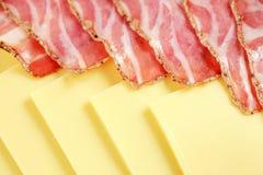 Ham en kaas Royalty-vrije Stock Afbeelding