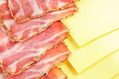 Ham en kaas Royalty-vrije Stock Afbeeldingen